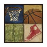 Basketball 4 Patch Lámina giclée por Stephanie Marrott