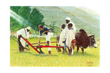 The Peace Corps in Ethiopia ' Giclee Print by Norman Rockwell