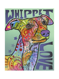 Whippet Love Giclee-trykk av Dean Russo
