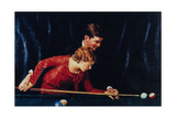 Billiards Is Easy to Learn (or Couple Playing Billiards) Giclee Print by Norman Rockwell