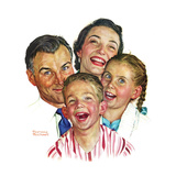 The Greatest Joys Are Shared (or Family of Four) Giclee Print by Norman Rockwell