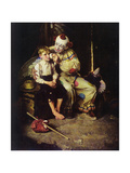 The Runaway (or Runaway Boy and Clown) Giclee Print by Norman Rockwell