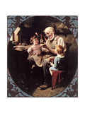 The Toy Maker- Giclée-tryk af Norman Rockwell
