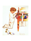 A Christmas Prayer Giclee Print by Norman Rockwell