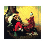 Checkers Giclee Print by Norman Rockwell