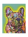 French Bulldog III Giclee-trykk av Dean Russo