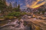 Indian Peaks Sunset Reproduction photographique par  Darren White Photography