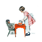 'See How Easy It Is' Giclee Print by Norman Rockwell