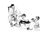 Dog's Bath Giclee Print by Norman Rockwell