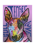 Bull Terrier Luv Giclee Print by Dean Russo