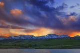 Front Range Light Show Reproduction photographique par  Darren White Photography