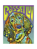Basset Luv Giclee Print by Dean Russo