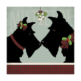 Scottie Mistletoe Giclee Print by Stephanie Marrott