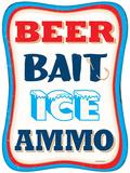 Beer Bait Ice Ammo Plaque en métal
