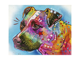 Pit Bull Giclee Print by Dean Russo