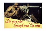 Let's Give Him Enough and on Time Reproduction procédé giclée par Norman Rockwell