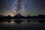 Jackson Lake Milky Way Reproduction photographique par  Darren White Photography