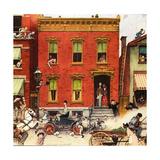 The Street Was Never the Same Again Reproduction procédé giclée par Norman Rockwell