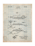 Fishing Lure Patent Poster by Cole Borders