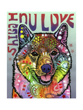 Shiba Inu Luv Giclee Print by Dean Russo