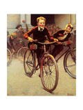 Fun on Bikes (or Boys on Bicycles) Giclee Print by Norman Rockwell