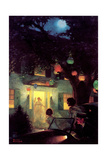 And the Symbol of Welcome Is Light (or Guests Arriving at Party) Giclee Print by Norman Rockwell