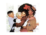 Home for Christmas Giclee Print by Norman Rockwell