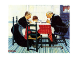 Rural Vacation (or Family Grace) Giclee Print by Norman Rockwell
