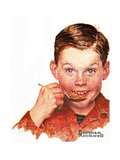 Freckles Giclee Print by Norman Rockwell