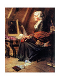 Memories (or Woman Reading Love Letters in Attic) Giclee Print by Norman Rockwell