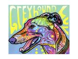 Greyhound Luv Giclee-trykk av Dean Russo