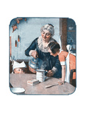 'It's So Simple' Giclee Print by Norman Rockwell
