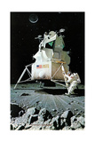 Man on the Moon (or United Stated Space Ship on the Moon) Giclee Print by Norman Rockwell