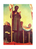 Abraham Lincoln Delivering the Gettysburg Address Giclee Print by Norman Rockwell