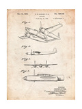 Howard Hughes Airplane Patent Art by Cole Borders