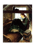 Young Writer Giclee Print by Norman Rockwell