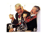 Two Gentlemen with Coffee Giclee Print by Norman Rockwell
