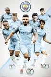 Manchester City- Team Kunstdrucke