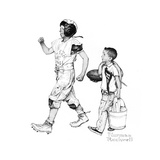 Football Hero Giclee Print by Norman Rockwell