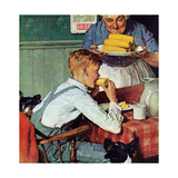 . . . And Then Ma, or Grandma Brought 'Em In (or Country Boy Eating Corn) Giclee Print by Norman Rockwell