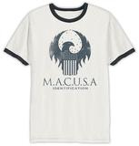 Fantastic Beasts- M.A.C.U.S.A Shield (Ringer) T-Shirts