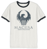 Fantastic Beasts- M.A.C.U.S.A Shield (Ringer) T-shirt