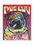 Pug Luv Giclee Print by Dean Russo