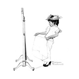 Girl in Front of Mirror Reproduction procédé giclée par Norman Rockwell