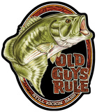 Old Guys Rule Bass Tin Sign