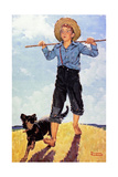 Boy and Dog Giclee Print by Norman Rockwell