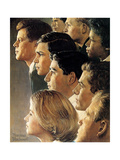 The Peace Corps (or JFK's Bold Legacy) Giclee Print by Norman Rockwell