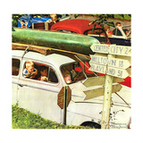 Crossroads on Sunday Giclee Print by Norman Rockwell