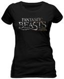 Juniors: Fantastic Beasts- Simple Logo T-Shirts
