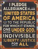 Pledge of Allegiance Blechschild